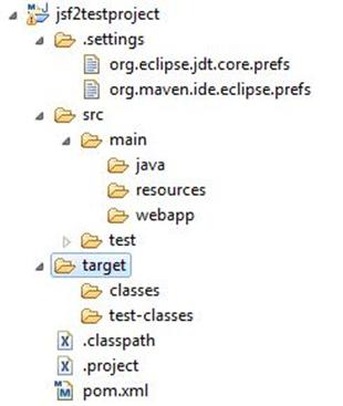 JSF 2.1 project using Eclipse and Maven 2 Image 4